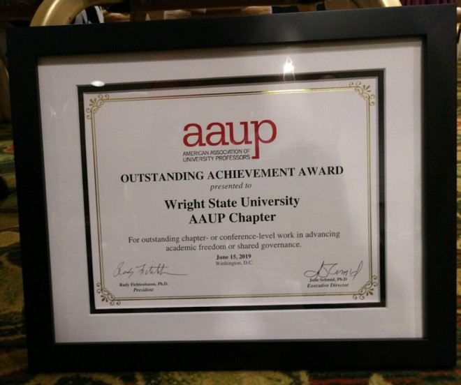 Outstanding Achievement Award from AAUP