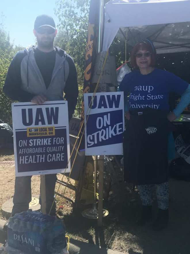 AAUP-WSU with UAW Strikers 2
